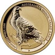 Australia 15 Dollars Australian Wedge-Tailed Eagle 2017 AUSTRALIAN WEDGE-TAILED EAGLE 2016 1/10 OZ 9999 GOLD P JM coin reverse