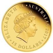 Australia 15 Dollars Half Sovereign 2017 ELIZABETH II AUSTRALIA 2017 15 DOLLARS IRB coin obverse