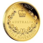 Australia 15 Dollars Half Sovereign 2017 PERTH MINT AUSTRALIA HALF SOVEREIGN coin reverse