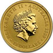 Australia 15 Dollars Kangaroo (constellation in background) 2009 ELIZABETH II AUSTRALIA 2009 15 DOLLARS IRB coin obverse