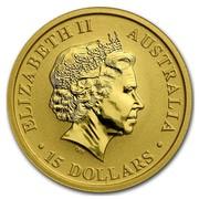 Australia 15 Dollars Kangaroo (Standing pose) 2011 ELIZABETH II AUSTRALIA 15 DOLLARS IRB coin obverse