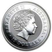 Australia 15 Dollars Lunar Dog (Colorized) 2006 ELIZABETH II AUSTRALIA 15 DOLLARS IRB coin obverse