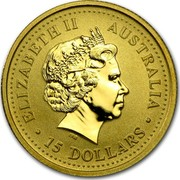 Australia 15 Dollars Monkey (Colorized) 2004 ELIZABETH II AUSTRALIA 15 DOLLARS IRB coin obverse