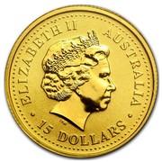 Australia 15 Dollars Nugget 1999 ELIZABETH II AUSTRALIA 15 DOLLARS IRB coin obverse