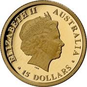 Australia 15 Dollars Resting Koala 2017  ELIZABETH II AUSTRALIA 15 DOLLARS IRB coin obverse
