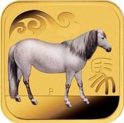 Australia 15 Dollars Ruyicong Horse 2014 P coin reverse
