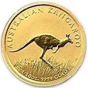 Australia 15 Dollars The Australian Bounding Kangaroo 2008 AUSTRALIAN KANGAROO P 1/10 OZ. 9999 GOLD coin reverse