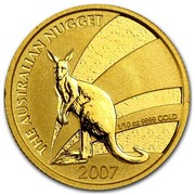 Australia 15 Dollars The Nugget 2007 THE AUSTRALIAN NUGGET 1/10 OZ 9999 GOLD 2007 JG coin reverse