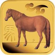 Australia 15 Dollars Trotting horse 2014 P coin reverse