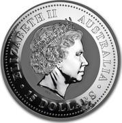 Australia 15 Dollars Year of the Dog 2006 ELIZABETH II AUSTRALIA 15 DOLLARS IRB coin obverse