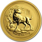 Australia 15 Dollars Year of the Dog 2018 YEAR OF THE DOG P coin reverse