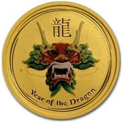 Australia 15 Dollars Year of the Dragon (Colorized) 2012 YEAR OF THE DRAGON P coin reverse