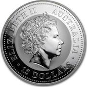 Australia 15 Dollars Year of the Monkey 2004 ELIZABETH II AUSTRALIA 15 DOLLARS IRB coin obverse
