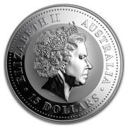 Australia 15 Dollars Year of the Monkey (Colorized) 2004 ELIZABETH II AUSTRALIA 15 DOLLARS IRB coin obverse