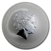 Australia 15 Dollars Year of the Ox 2009 ELIZABETH II AUSTRALIA 1/2 KG 999 SILVER 2009 15 DOLLARS IRB coin obverse