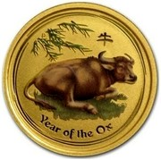Australia 15 Dollars Year of the Ox (Colorized) 2009 YEAR OF THE OX P coin reverse