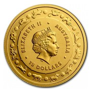 Australia 15 Dollars Year of the Rooster 2017 ELIZABETH II AUSTRALIA 15 DOLLARS IRB coin obverse