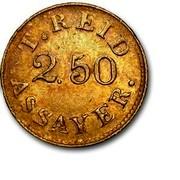 USA $2.50 1830 KM# 79 Templeton Reid (Georgia) GEORGIA GOLD. 1830 coin obverse