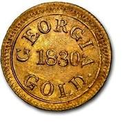 USA $2.50 1830 KM# 79 Templeton Reid (Georgia) T. REID ASSAYER. 2.50 coin reverse