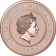 Australia 2 Cents Venus 2017 ELIZABETH II AUSTRALIA 2017 2 CENTS IRB coin obverse