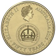 Australia 2 Dollars 50 Years of Decimal Currency 2016  ELIZABETH II AUSTRALIA 2016 FIFTY YEARS COMMONWEALTH OF AUSTRALIA coin obverse