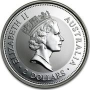 Australia 2 Dollars A Laughing Kookaburra 1998 ELIZABETH II AUSTRALIA 2 DOLLARS coin obverse