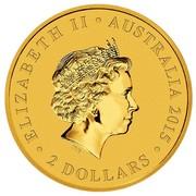 Australia 2 Dollars Kangaroo Mini Roo 2015 ELIZABETH II AUSTRALIA 2015 2 DOLLARS IRB coin obverse