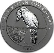 Australia 2 Dollars Kookaburra perched on a wire fence with a cobweb 2008 THE AUSTRALIAN KOOKABURRA 2 OZ 999 SILVER 2008 coin reverse