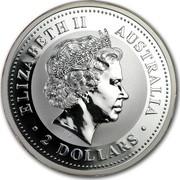 Australia 2 Dollars Lunar Year of the Dog (Colorized) 2006 ELIZABETH II AUSTRALIA 2 DOLLARS IRB coin obverse