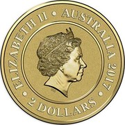 Australia 2 Dollars Mars 2017 ELIZABETH II AUSTRALIA 2017 2 DOLLARS IRB coin obverse