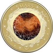 Australia 2 Dollars Mars 2017 MARS coin reverse
