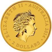 Australia 2 Dollars Mini Kookaburra 2014  ELIZABETH II AUSTRALIA 2014 2 DOLLARS IRB coin obverse