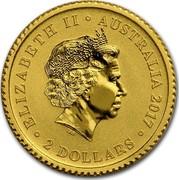 Australia 2 Dollars Mini Roo 2017 ELIZABETH II AUSTRALIA 2017 2 DOLLARS IRB coin obverse