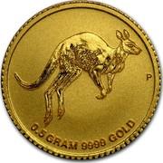 Australia 2 Dollars Mini Roo 2017 0.5 GRAM 9999 GOLD P coin reverse