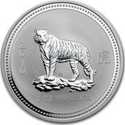 Australia 2 Dollars The Tiger 2007 2010 2 OZ 999 SILVER coin reverse