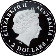 Australia 2 Dollars Year of the Dog 2006 KM# 1884a ELIZABETH II AUSTRALIA ∙ 2 DOLLARS coin obverse