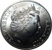 Australia 20 Cents International Day of People wiTh Disability 2017 ELIZABETH II AUSTRALIA 2017 IRB coin obverse