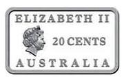Australia 20 Cents Rum Rebellion 2008  ELIZABETH II 20 CENTS AUSTRALIA coin obverse