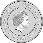 Australia 20 Cents Uranus 2017 ELIZABETH II AUSTRALIA 2017 20 CENTS IRB coin obverse