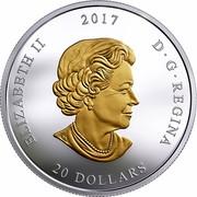 Canada 20 Dollars From Sea to Sea - Pacific Salmon 2017 ELIZABETH II 2017 D G REGINA 20 DOLLARS SB coin obverse