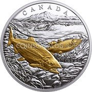 Canada 20 Dollars From Sea to Sea - Pacific Salmon 2017 CANADA TB coin reverse