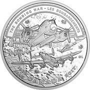 Canada 20 Dollars Second World War Battlefront - The Bombing War 2017  THE BOMBING WAR - LES BOMBARDEMENTS 1939-1945 CANADA 2017 GL coin reverse