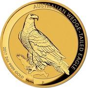 Australia 200 Dollars Australian Wedge-Tailed Eagle 2017 KM# 2217 AUSTRALIAN WEDGE-TAILED EAGLE 2017 2 OZ 9999 GOLD P JM coin reverse