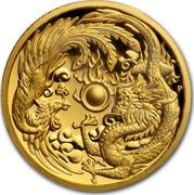 Australia 200 Dollars Dragon & Phoenix 2017 P coin reverse