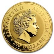 Australia 200 Dollars Piglet 2007 ELIZABETH II AUSTRALIA 200 DOLLARS IRB coin obverse