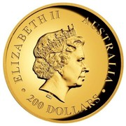 Australia 200 Dollars Resting Koala 2017 ELIZABETH II AUSTRALIA 200 DOLLARS IRB coin obverse