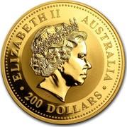 Australia 200 Dollars The Australian Nugget 2006 ELIZABETH II AUSTRALIA 200 DOLLARS IRB coin obverse