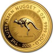 Australia 200 Dollars The Australian Nugget 2006 THE AUSTRALIAN NUGGET 2 OZ. 9999 GOLD ∙ 2006 ∙ RED KANGAROO coin reverse