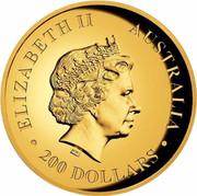 Australia 200 Dollars Walking Koala 2016 ELIZABETH II AUSTRALIA 200 DOLLARS IRB coin obverse