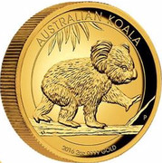 Australia 200 Dollars Walking Koala 2016 AUSTRALIAN KOALA 2016 2 OZ 9999 GOLD P IJ coin reverse
